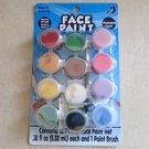Face paint Washable Makeup Costume Kit coloring 12 pots of .18 fl. oz each Party