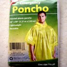(PACK OF TWO) Coghlan's Emergency Poncho # 9173 CLEAR COLOR  Hooded plastic rain