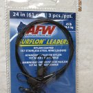 AFW Nylon Coated 3 pcs. 25 in 45 lb 1x7 stainless steel wire leaders E045BL24/3