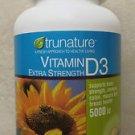 trunature Vitamin D3 5000 IU Extra Strength 500 Softgels bottle Bone exp:2015 NE