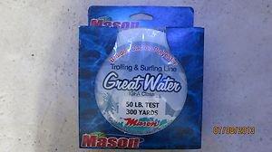 Mason Great Water Dacron Line 50 Lb.Test / 300 Yds Trolling & Surfing Line Braid