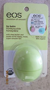 EOS lip balm honeysuckle honeydew .25 oz (7g) with shea butter and jojoba oil NE