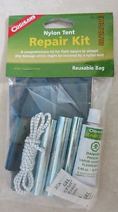 Coghlan's Nylon Tent Repair Kit No. 0205 Reusable bag needle shock cord seam sea