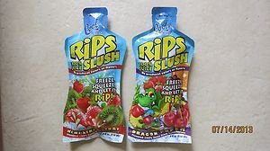 TWO Cool Tropics Rips Slush 100% juice KIWI STRAWBERRY + DRAGON PUNCH pouch 4 oz