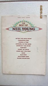 The Best Of Neil Young music book Paper back Piano Voice Guitar VF0978 After the