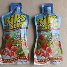 TWO Cool Tropics Rips Slush 100% juice KIWI STRAWBERRY flavor 4 fl oz pouches