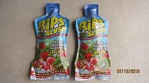 TWO Cool Tropics Rips Slush 100% juice KIWI STRAWBERRY flavor 4 fl oz pouches