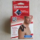 One roll Mueller Kinesiology Tape 2.0 in x 16.4 ft BLACK Latex Free Harmstring