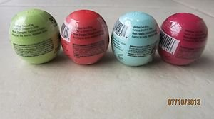 4 EOS Lip Balms Pomegranate raspberry Summer Fruit Sweet mint Honeysuckle honeyd