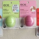 4 EOS Lip Balms Sweet Mint Summer Fruit Strawberry sorbet Honeysuckle honeydew N