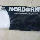 One Unique Headband super absorbant cotton elastic WHIT color tennis sport NEW U