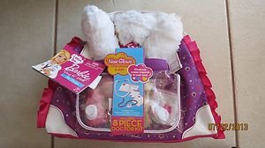 Barbie Hug N Heal Pet Doctor Kit - White and Brown ! ( 8 pieces ) NEW Gift toy