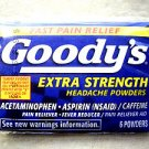 TWO packs Goody's Extra Strength Headach Powders 6 powders Aspirin Pain Reliever
