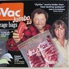 ZipVac Vacuum Storage Bags JUMBO 2.0 - 20 jumbo 2.0 bags. for use with zipvac Pu