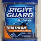 Right Guard Deodorant TRIATHLON Performance 3.0 oz ( 85g ) Clear Gel antiperspir
