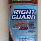 Right Guard Total Defense Deodorant ARCTIC REFRESH 3.0 oz ( 85g ) DEO 24 HR powe