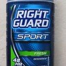 Right Guard Sport Deodorant FRESH 2.8 oz. ( 79 g ) 48 HR protection Odor blocker