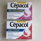2 boxes of Cepacol SoreThroat  & Cough 16 Lozenges each ( Mixed Berry + Cherry )