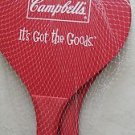 """Campbell's """" It's Got The Goods """" two NEW red paddles Red color paddle NO BALL"""