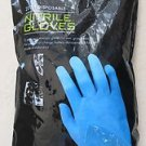 Living Solutions 20 counts Disposable NITRILE GLOVES - Large - Light Blue NEW ba