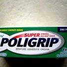 Poligrip DENTURE ADHESIVE CREAM 0.75 oz (21g) super strong all day long ZINC FRE