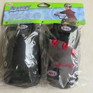 Bell Riderz Street Shred Pad Set BLACK set with red lines on gloves Knees Elbows