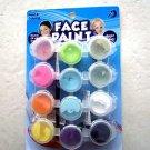 Face paint Washable Makeup Costume Kit coloring 12 pots of .1875 fl oz. Bright c