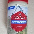 Old Spice Matterhorn Body Spray 4.0 oz (113 g) Fresh Collection smell like WIND