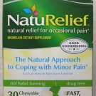 TWO of NatuRelief Natural Pain Management Drug Free 30 Chewable Tabs RELIEF PAIN