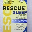 Bach Rescue sleep liquid melts 28 capsules Natural sleep aid Homeopathic exp2015