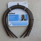 4 headbands Scunci 36966-A headband hair girl women clip Effortless beauty NEW p