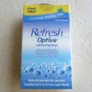 Refresh Optive Lubricant Eye Drops One box of 2 Bottles .5 fl oz (15 ml) ea NEW