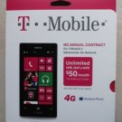 T Mobile nokia lumia 521 cell phone 4G White Clam TD Kit prepaid windows NEW inb