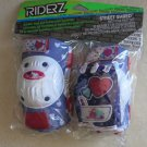 Riderz Street Shred Bicycle Pad Set ( Gloves Knee and Elbow pads ) purple white