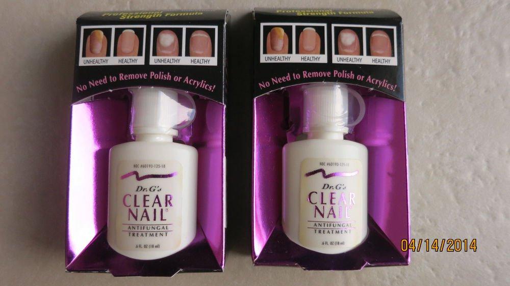 TWO Dr G's Clear nail antifungal treatment .6 fl. oz. (18ml) Kills Fungus Dr G N