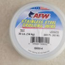 AFW Stainless Steel Trolling Wire G030-4 ( 30 lb. x 300 ft. ) Fishing Line Amerc