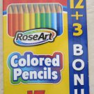 15 RoseArt colored pencils pre-sharpened ! Rose Art color pencil MEGA non-toxic