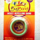 TWO Deet Free Bugbands insect Repelling Band NEON GREEN color Repels mosquitoes