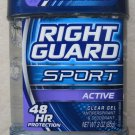 Right Guard Deodorant ACTIVE 3.0 oz ( 85g ) Clear Gel antiperspirant 48 HR Prote