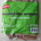 60 STAPLES ASSORTED COIN WRAPPERS closed end tube design quarter dime nickel pen