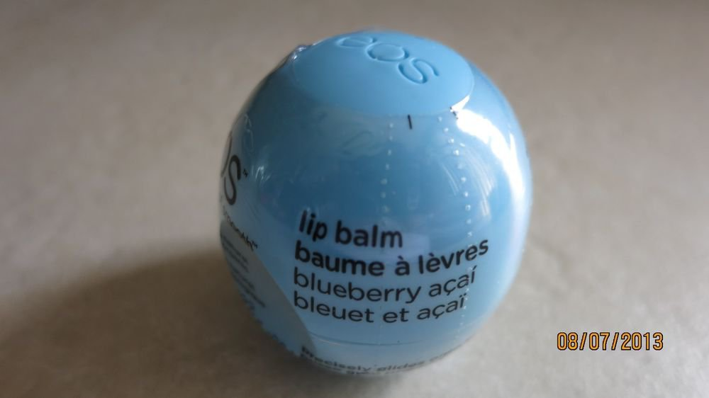 TWO EOS Smooth Lip Balms Sphere Blueberry Acai - Blue Berry Keeps Your Lips Mo s