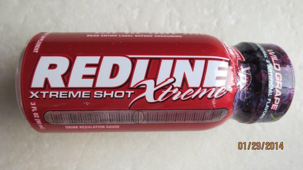 Redline Xtreme Energy Shot Wild grape 3 fl oz Zero Calories No Crash Shots drink