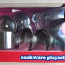 Metal Pot & Pans Kitchen Cookware Play set Cooking Set 11 Pieces Real stainless