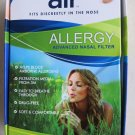 AIR Allergy Advanced Nasal Filter 12 count Fits Discreetly in Nose Helps block N