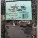 Scaff's Enterprises 18C Camouflage Vinyl Double License Holder W/ Rustproof Pin