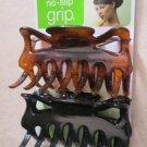 Scunci no slip GRIP all day hold hair 2 pcs long hair women girl 37162-A teeth g