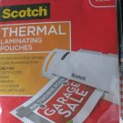 Scotch Thermal Laminating Pouches 8.9 x 11.4 Inches each 20 Pack TP3854-20 NEW