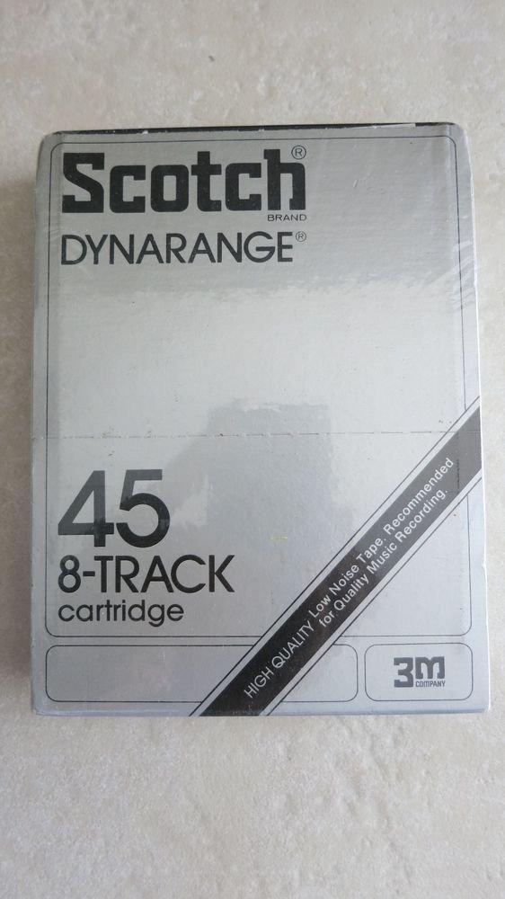Blank 8-Track Cartridge Scotch brand Dynarange 45 High Quality NEW Sealed tape