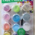 Bright Face paint Washable Makeup Costume Kit 12 pots of .18 fl oz. brush colors