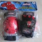 Marvel ultimate Spiderman Protective Gear ( knee and elbow pads w gloves) spider